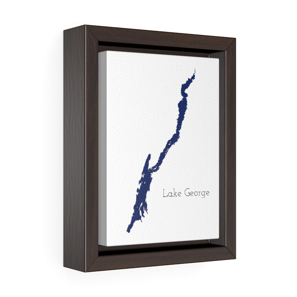 Lake George - Party Lakes Collection - Vertical Framed Premium Gallery Wrap Canvas