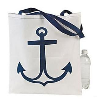 White Boat Bag with Anchor