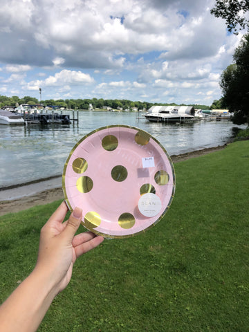 Pink Polka-Dot Party Plate - GS8