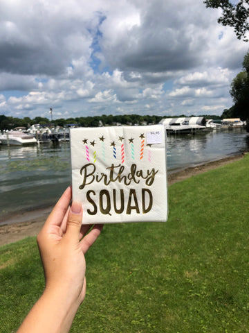 Birthday Squad Napkin Set - GS8