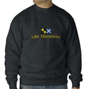 Lake Minnetonka Embroidered Crew Neck Sweatshirt