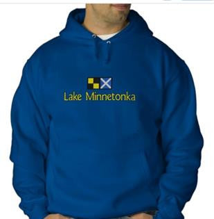 Lake Minnetonka Embroidered Hooded Sweatshirt
