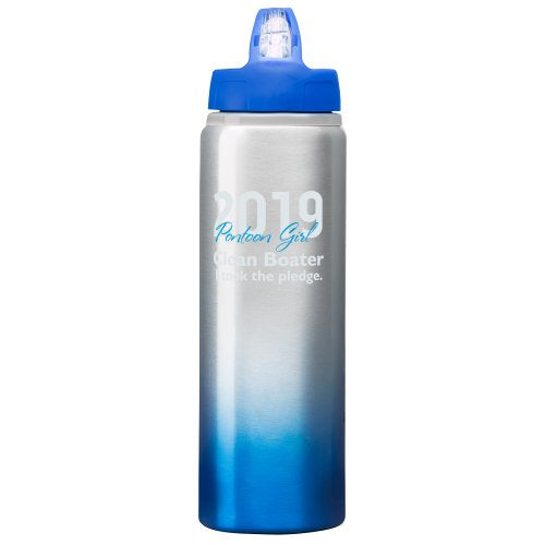 I TOOK THE PLEDGE - Pontoon Girl Clean Boater Pledge Waterbottle
