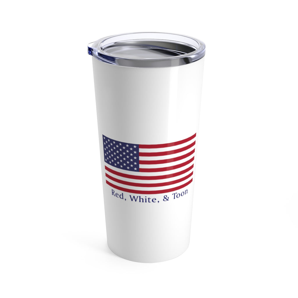Pontoon Girl - Classic Flag Tumbler - Red White and Toon