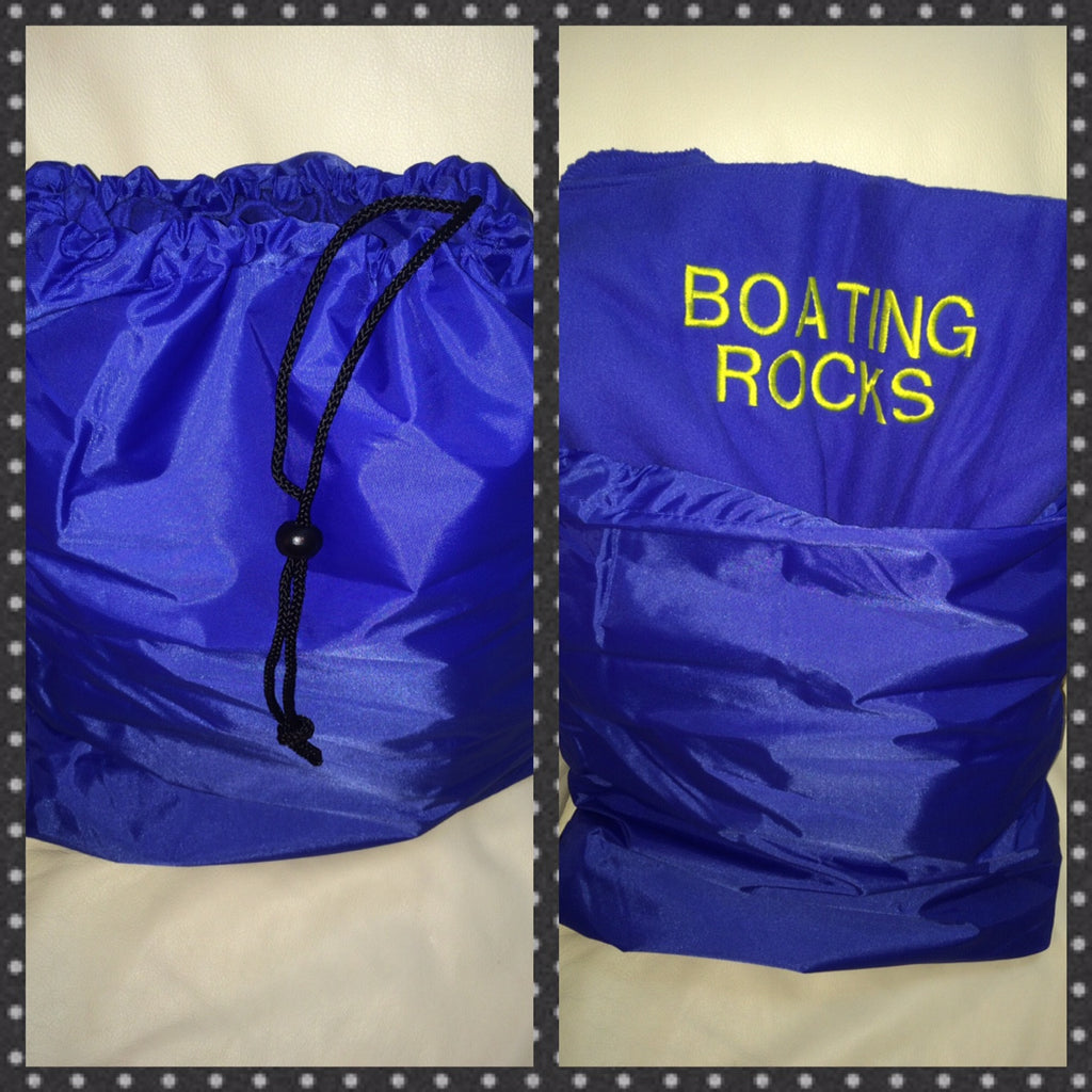 Fleece Boat Blanket that Folds Into Storage Bag