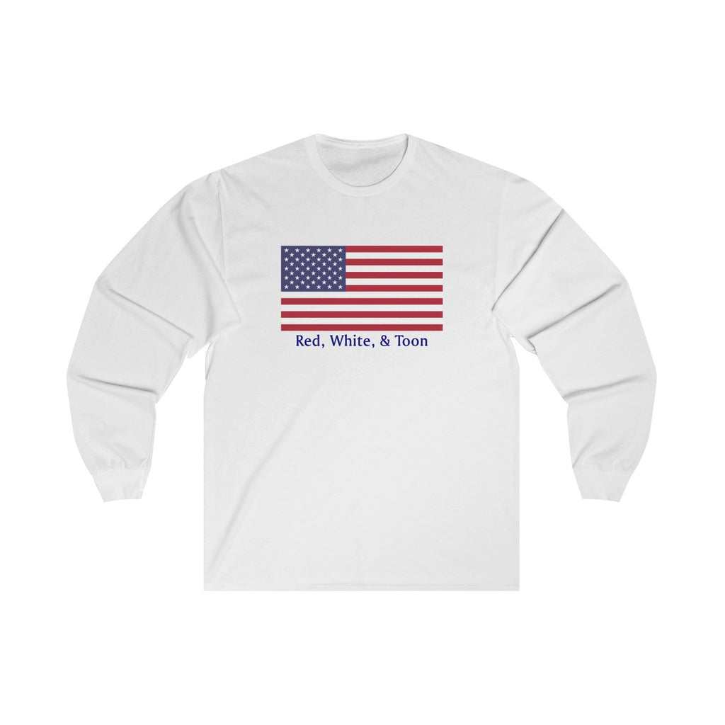 Pontoon Girl - Red White and Toon - Classic Flag Long Sleeve T Shirt