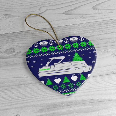 Pontoon Girl Ceramic Ornaments - Heart