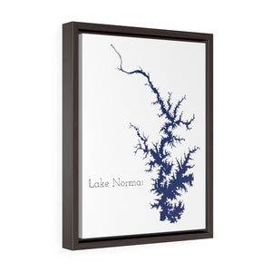 Lake Norman - Party Lakes Collection - Vertical Framed Premium Gallery Wrap Canvas