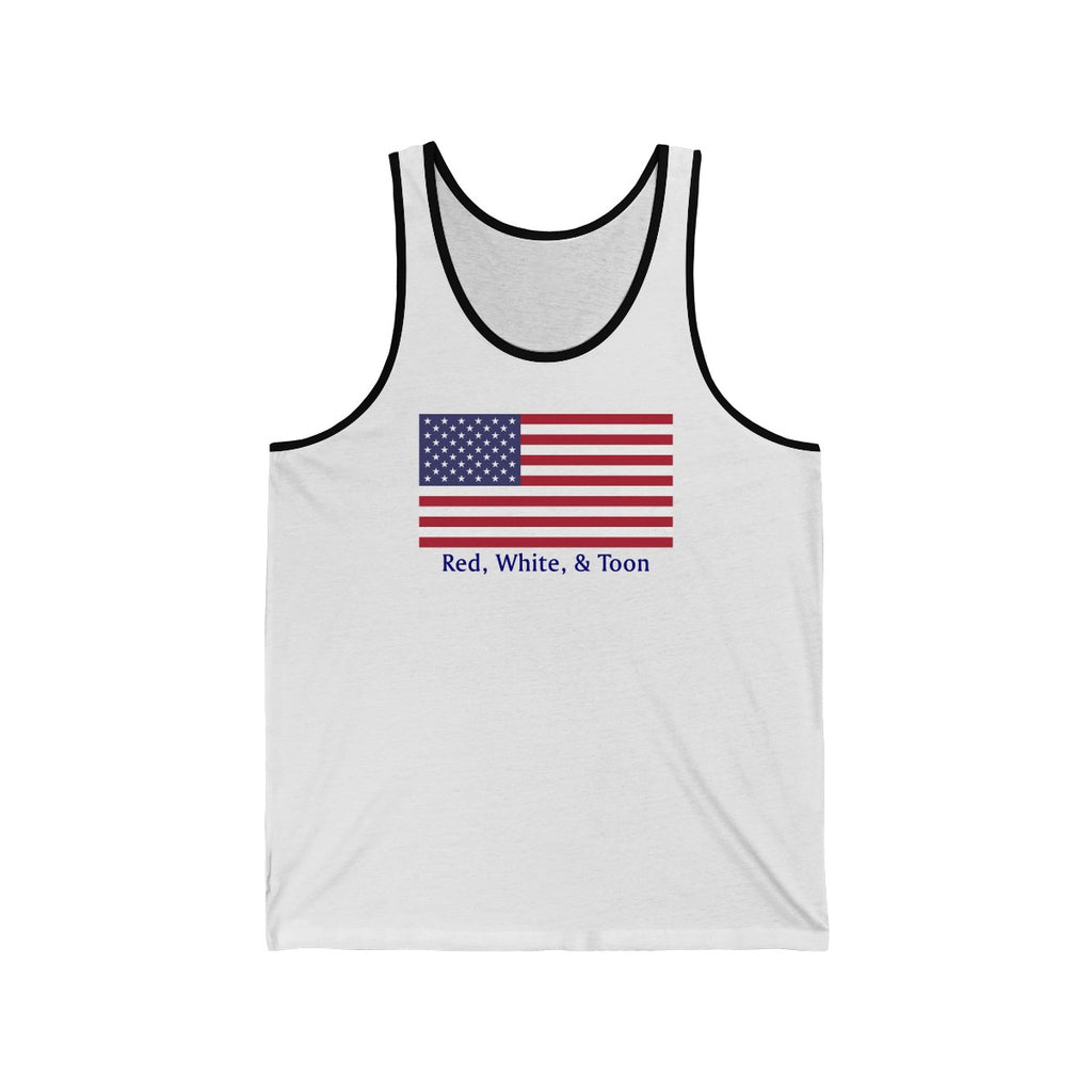 Tank Top - Red White and Toon - NOTHING ON BACK