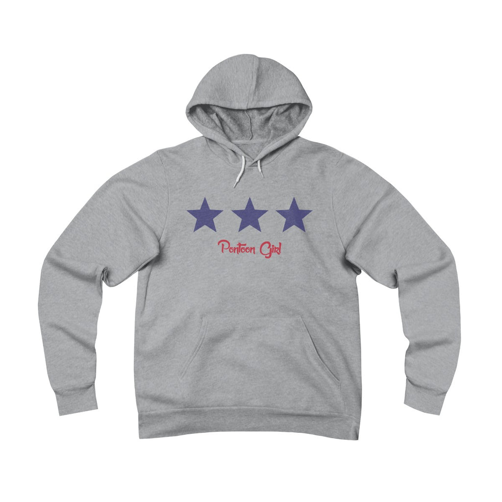 Pontoon Girl - Red White and Toon - Classic Flag Hoodie