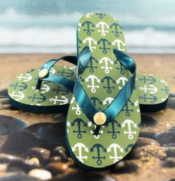 Summer Anchor Flip Flops