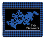 Lake Minnetonka Map With Black Background - Blanket
