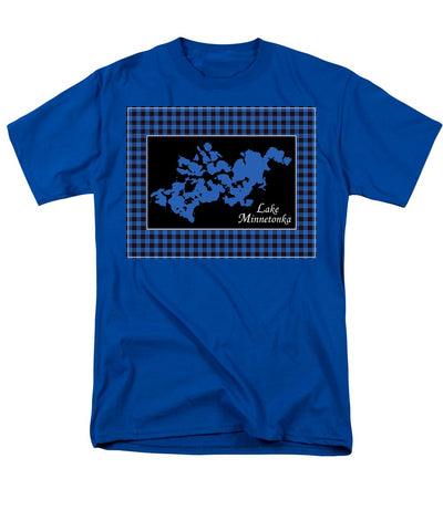 Lake Minnetonka Map With Black Background - Men's T-Shirt  (Regular Fit)