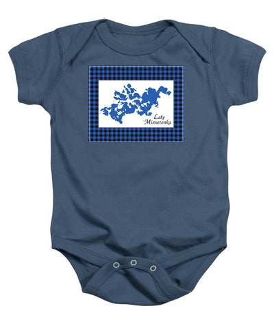 Lake Minnetonka Map With White Background - Baby Onesie