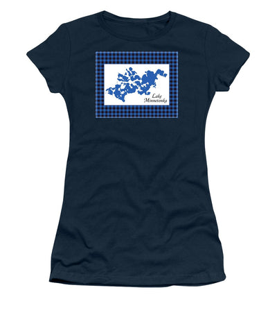 Lake Minnetonka Map With White Background - Women's T-Shirt