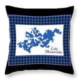 Lake Minnetonka Map With White Background - Throw Pillow