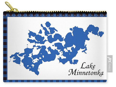 Lake Minnetonka Map With White Background - Carry-All Pouch