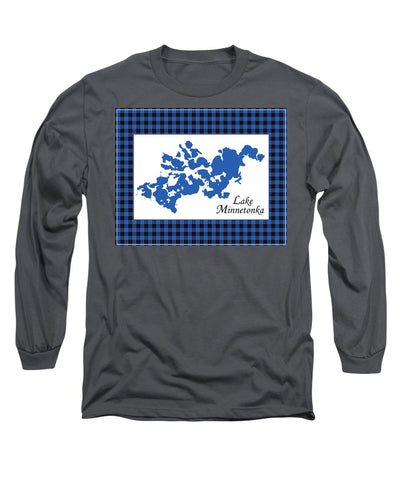 Lake Minnetonka Map With White Background - Long Sleeve T-Shirt