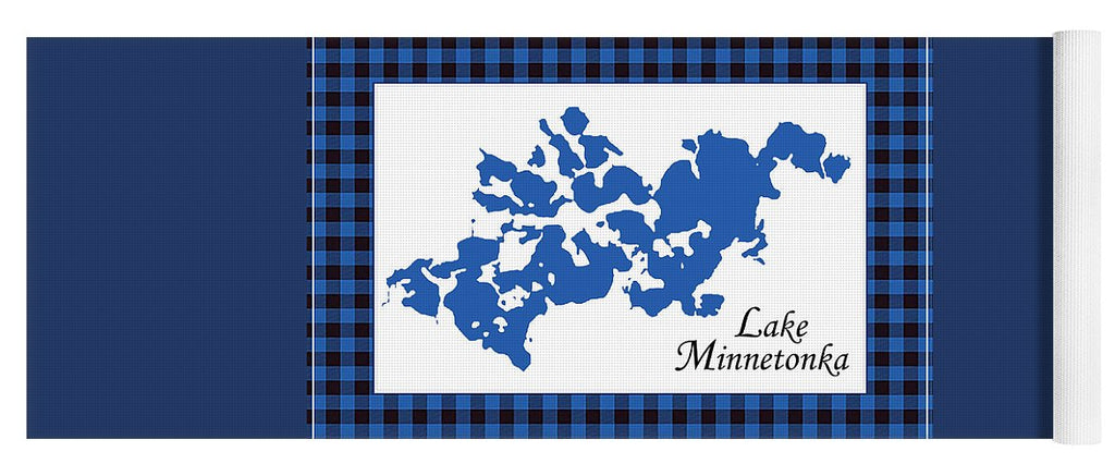 Lake Minnetonka Map With White Background - Yoga Mat