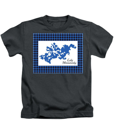 Lake Minnetonka Map With White Background - Kids T-Shirt