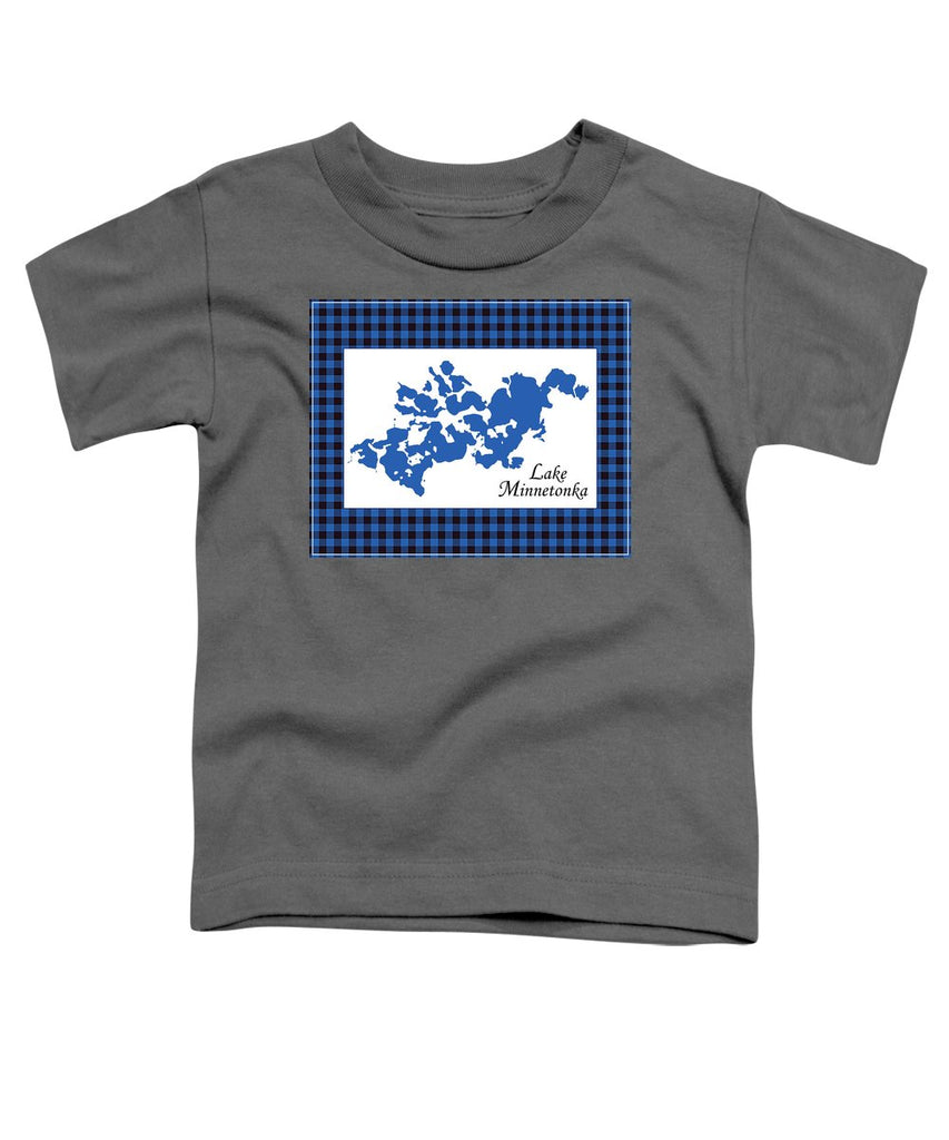 Lake Minnetonka Map With White Background - Toddler T-Shirt