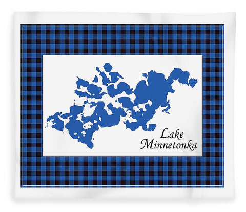 Lake Minnetonka Map With White Background - Blanket