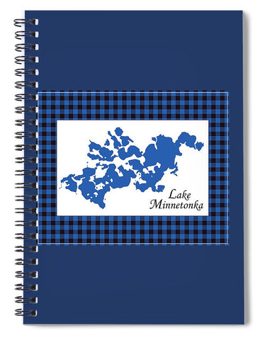 Lake Minnetonka Map With White Background - Spiral Notebook