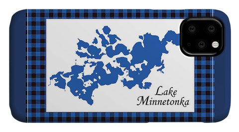 Lake Minnetonka Map With White Background - Phone Case
