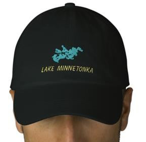 Lake Minnetonka Design Embroidered Cap