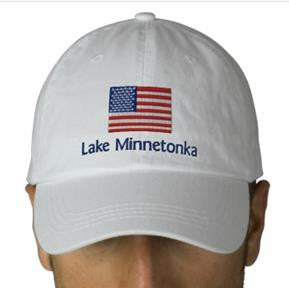 Lake Minnetonka American Flag Embroidered Cap