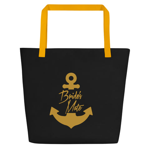 Bride's Mate - Beach Bag for Nautical Bridal Party Gift or Bachelorette Party Gift