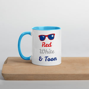 Red Whte and Toon Sunglasses Mug with Color Inside