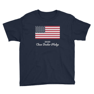 Clean Boater Pledge By Pontoon Girl ® - Youth Short Sleeve T-Shirt