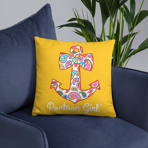 Pontoon Girl® - Basic Pillow with Cute Anchor