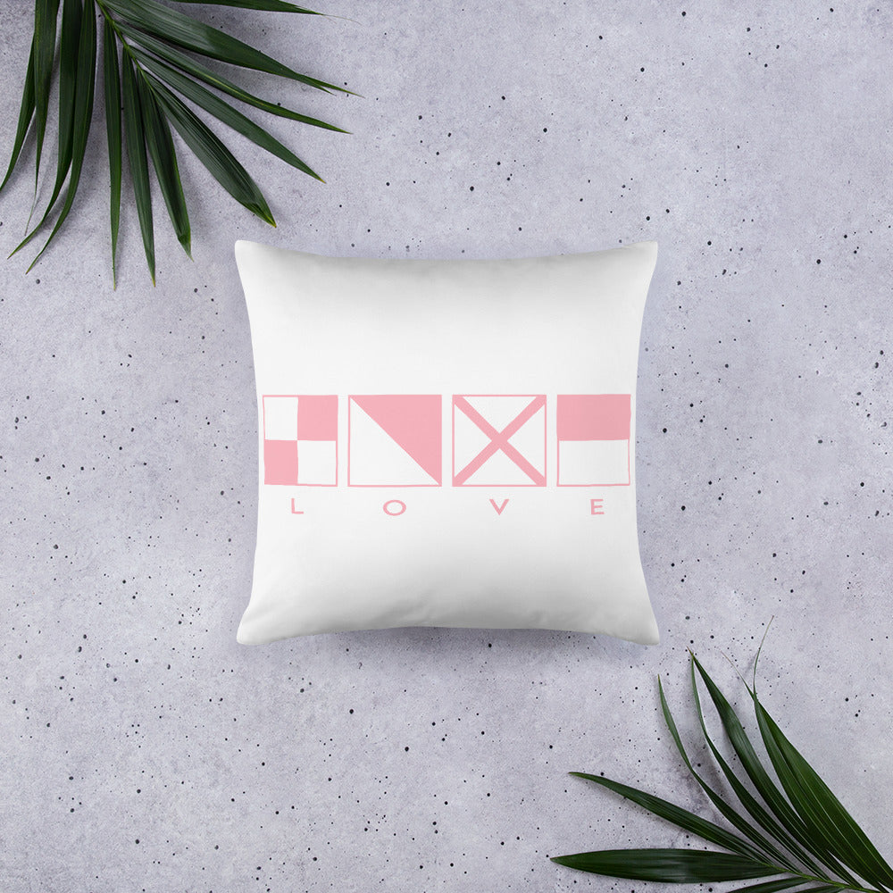 Love Basic Pillow - Great Gift For Women in Boating