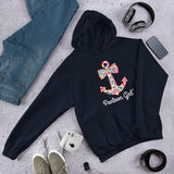 Pontoon Girl - Sweet Anchor Bow Unisex Hoodie