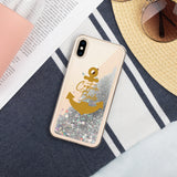 Captain Bride - Liquid Glitter Phone Case - Nautical Bridal Party Gift