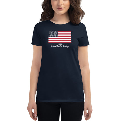 Clean Boater Pledge by Pontoon Girl ® -  Women's short sleeve t-shirt