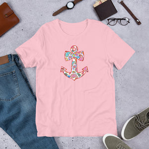 Paisley Anchor Short-Sleeve Unisex T-Shirt