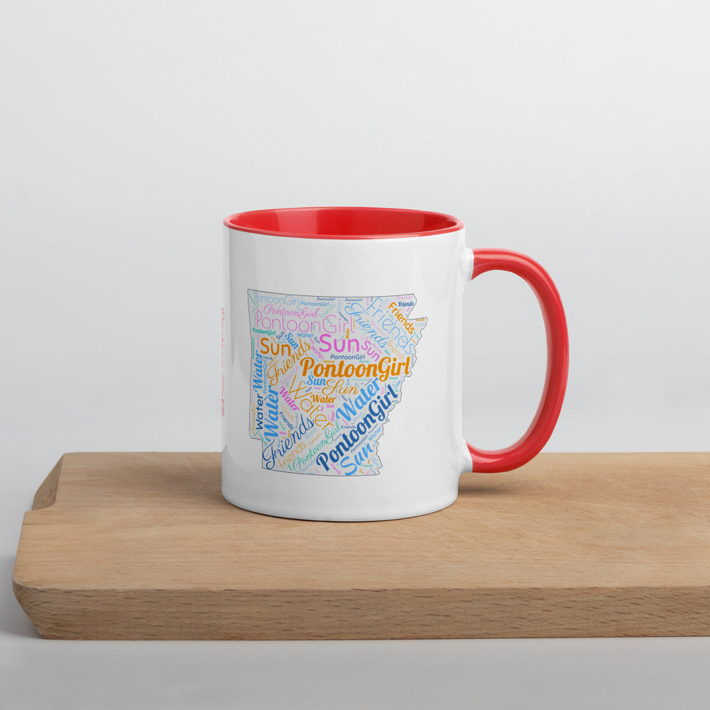 Pontoon Girl® - Arkansas Mug with Color Inside