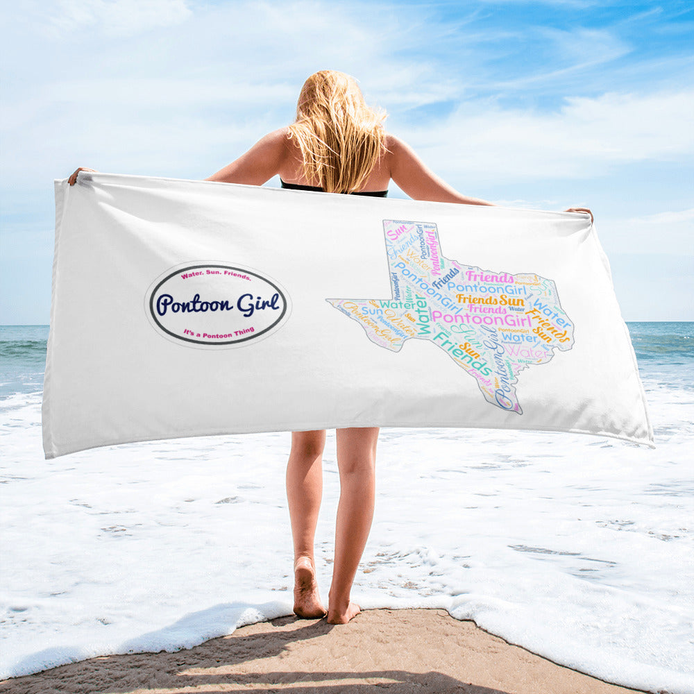 Pontoon Girl® - Texas Beach Towel