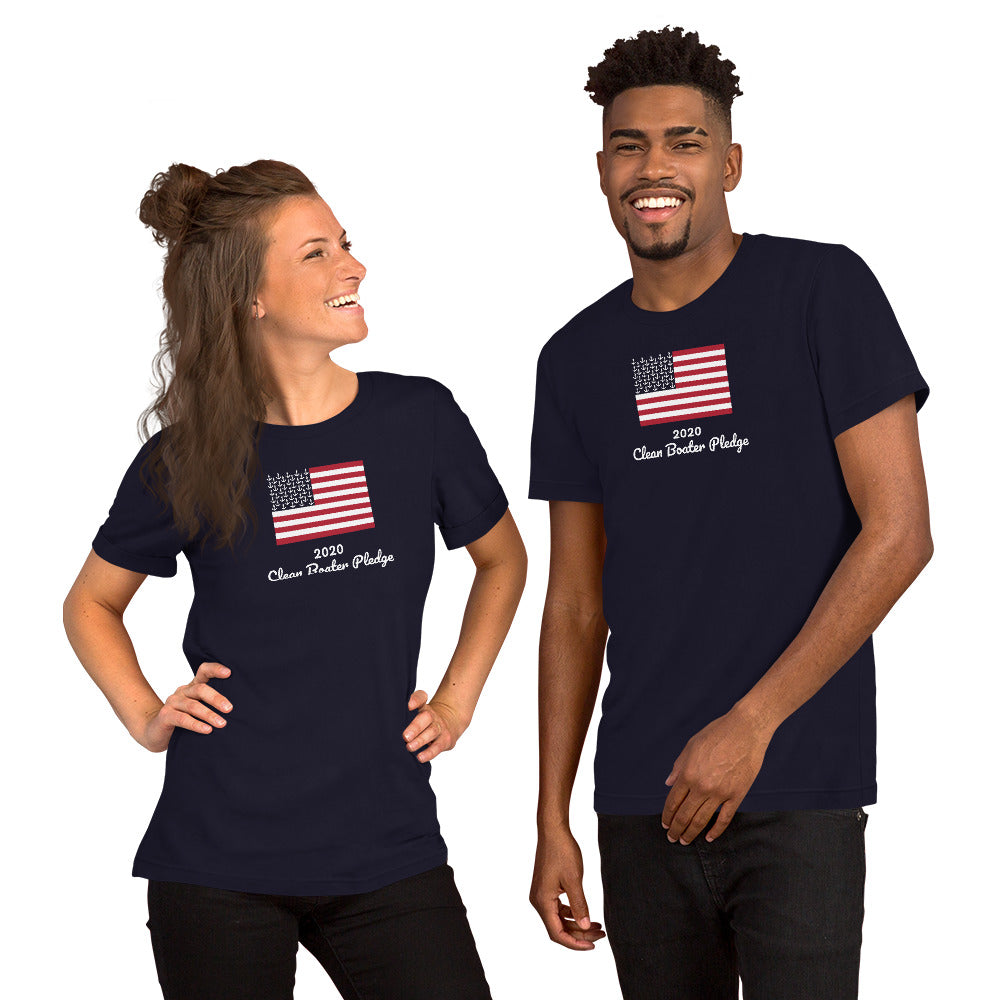2020 Clean Boater Pledge by Pontoon Girl® - Short-Sleeve Unisex T-Shirt
