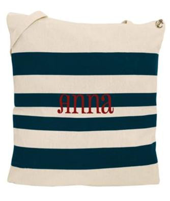 Nautical Stripe Bag - ROOMY!