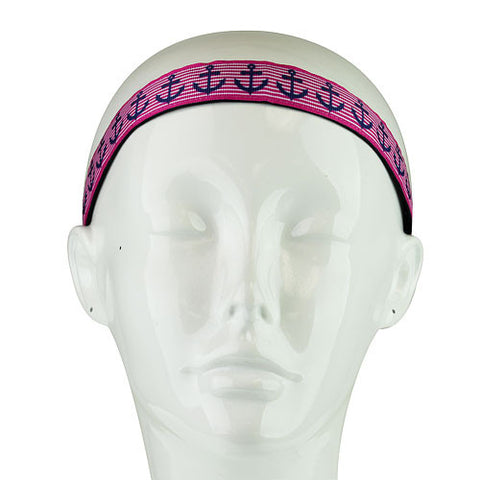 Pink and Blue Anchor Head Band