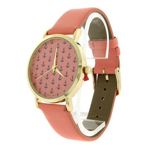 Nautical Pink Anchor Watch