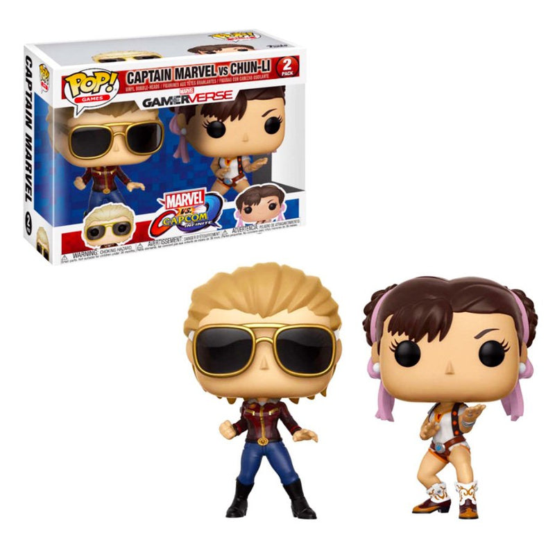 Funko POP! Marvel VS Capcom - Captain Marvel VS Chun-Li
