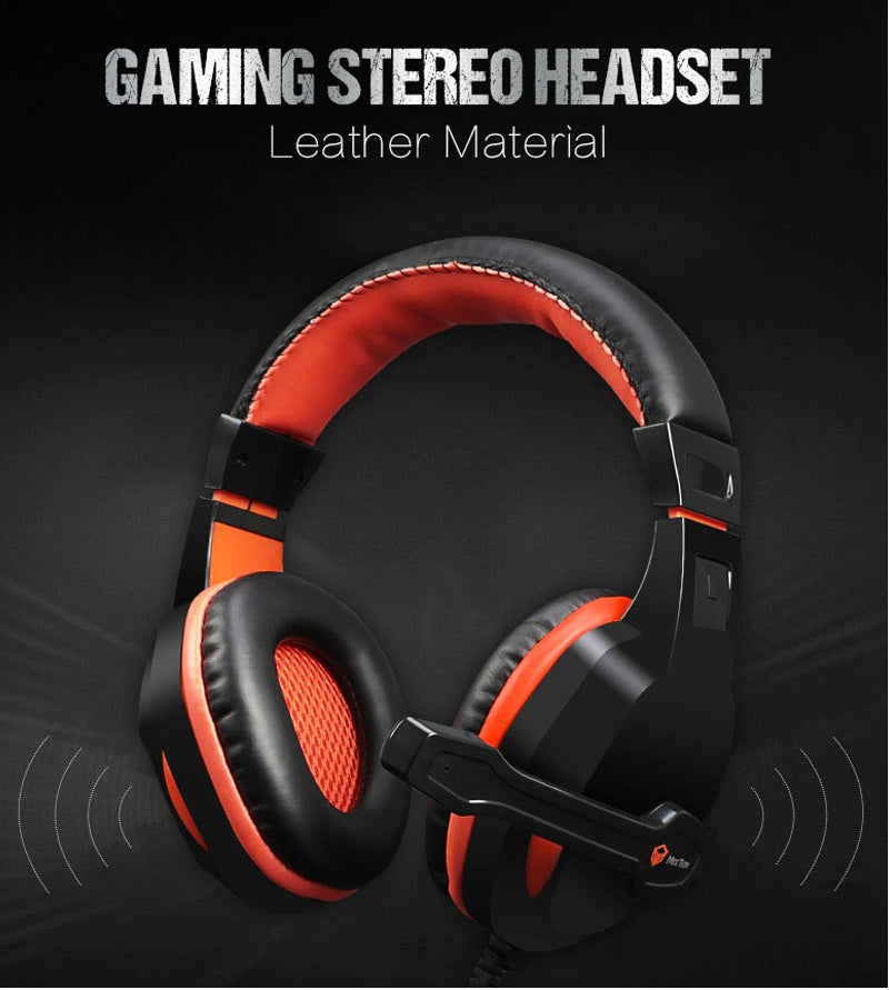 MEETION - Stereo Wired Gaming Headset with Mic HP010