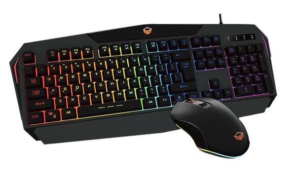 MEETION - Rainbow Backlit Gaming Keyboard and Mouse C510