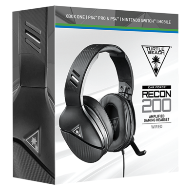Turtle Beach - Recon 200 Amplified Gaming Headset - BLACK
