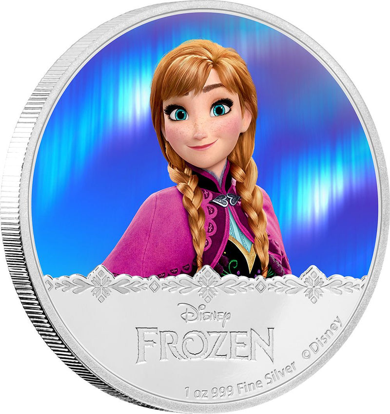 Disney Frozen Elsa Anna Characters Silver Plated Collectible Gift Coin Set